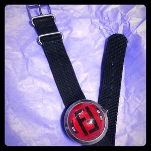 Red Fendi bubble watch